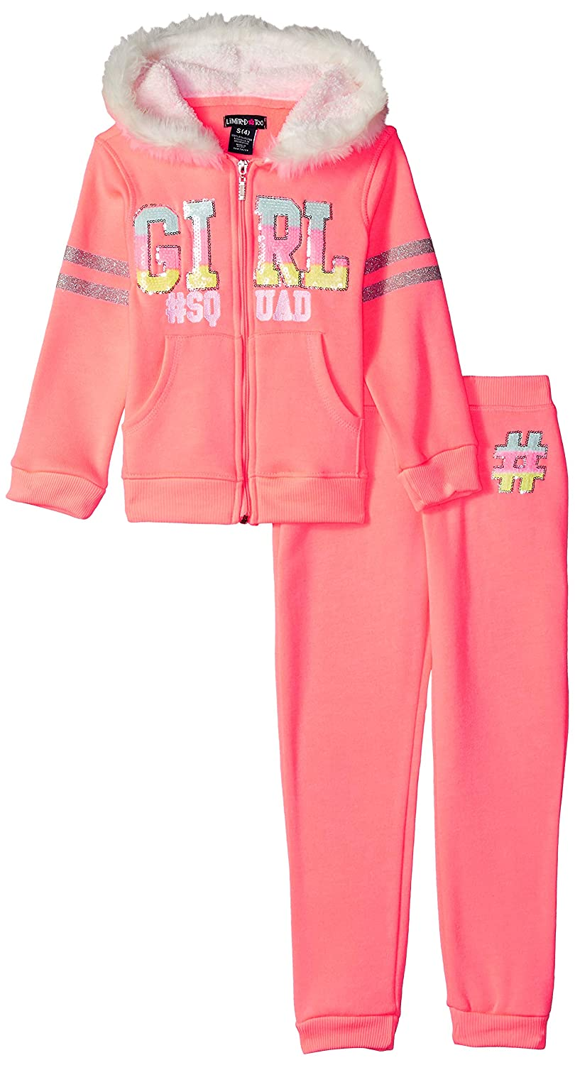 Limited Too Girls 2 Piece Zip Up Hoodie and Jogger Set