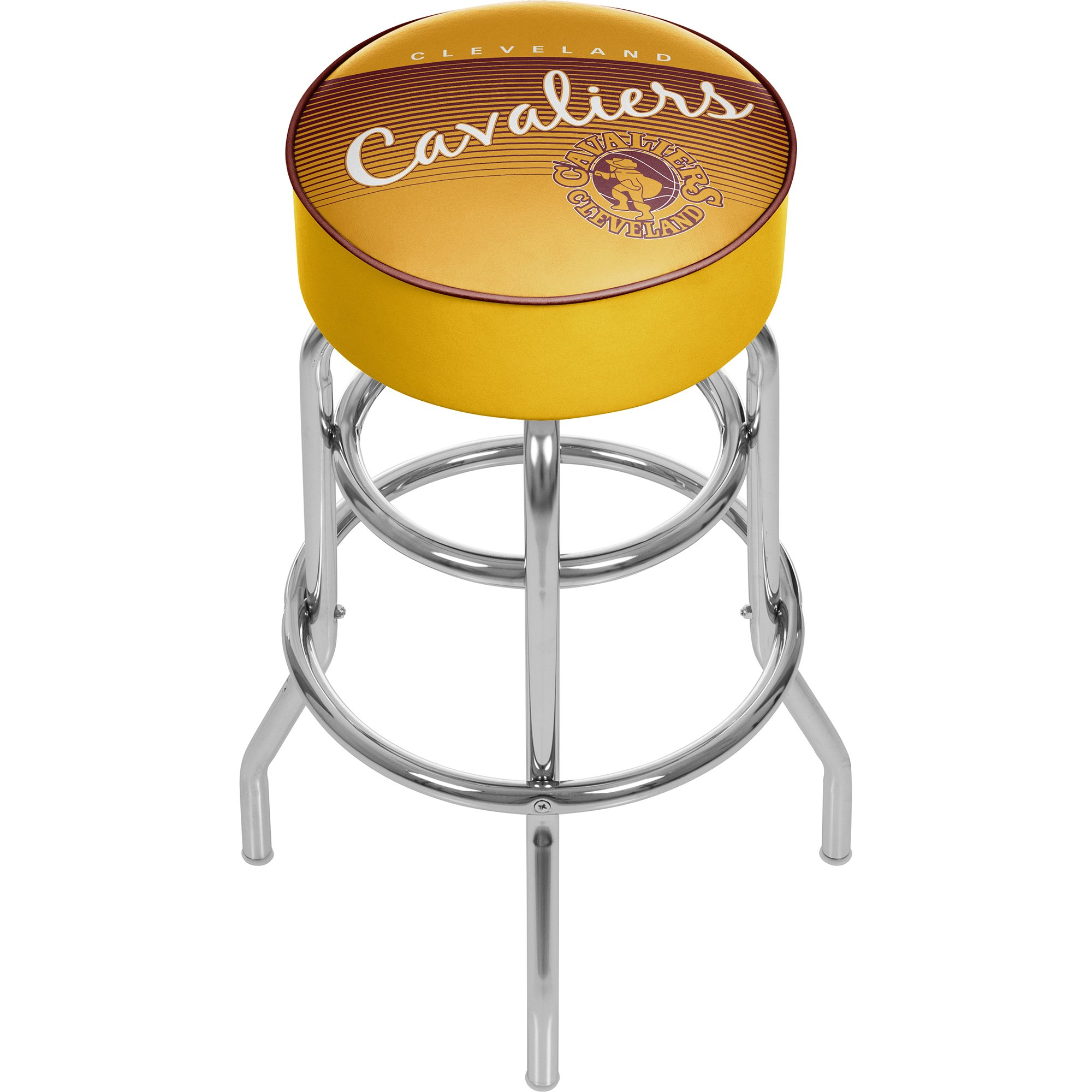Trademark Global NBA Cleveland Cavaliers Hardwood Classics Padded Swivel Stool, One Size, Chrome