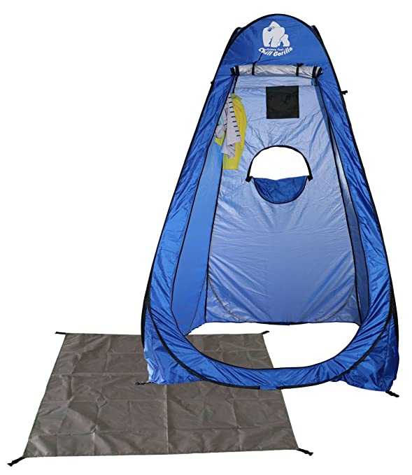 Chill Gorilla Instant POP UP Privacy Tent. Perfect for Dressing/Changing, Portable Shower, Outdoor Shelter. Privacy Camp Bathroom. Easy to Setup. Includes Carrying Bag. The Instant Private Room.