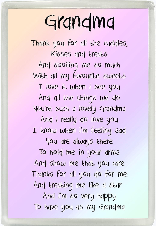 Abuela poema Jumbo imán para nevera Ideal para regalo de ...