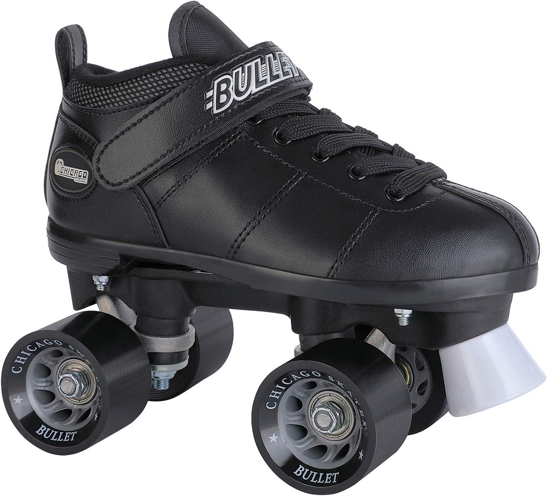 Details about  /Chicago Bullet Men/'s Speed Roller Skate Black MENS SIZE 4