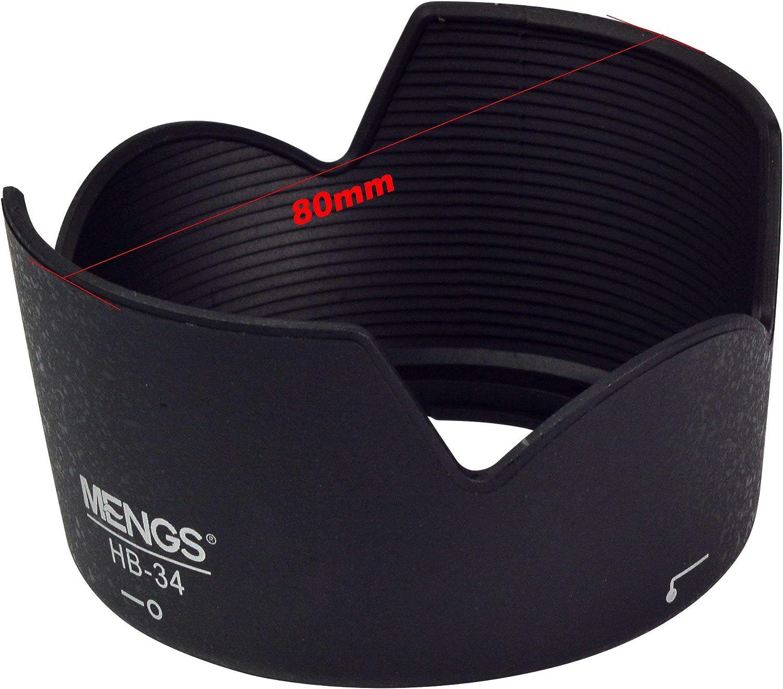 AF-S DX NIKKOR 18-55mm f//3.5-5.6G VR MENGS/® HB-45 p/étales parasoleil pour Nikon AF-S NIKKOR 18-55mm DX