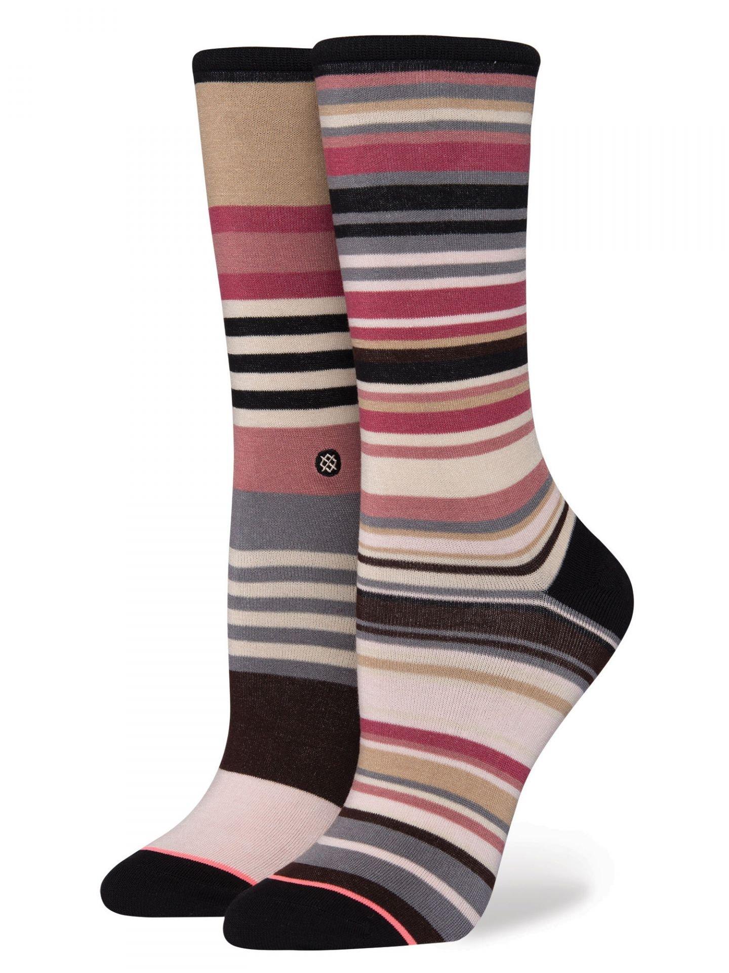 Stance Women's Crescent Crew Socks, Multi, Small