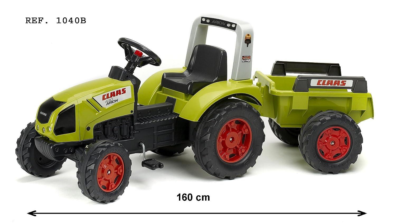 Falk 1040B - Claas Arion 430, tractor a pedales con remolque, color ...
