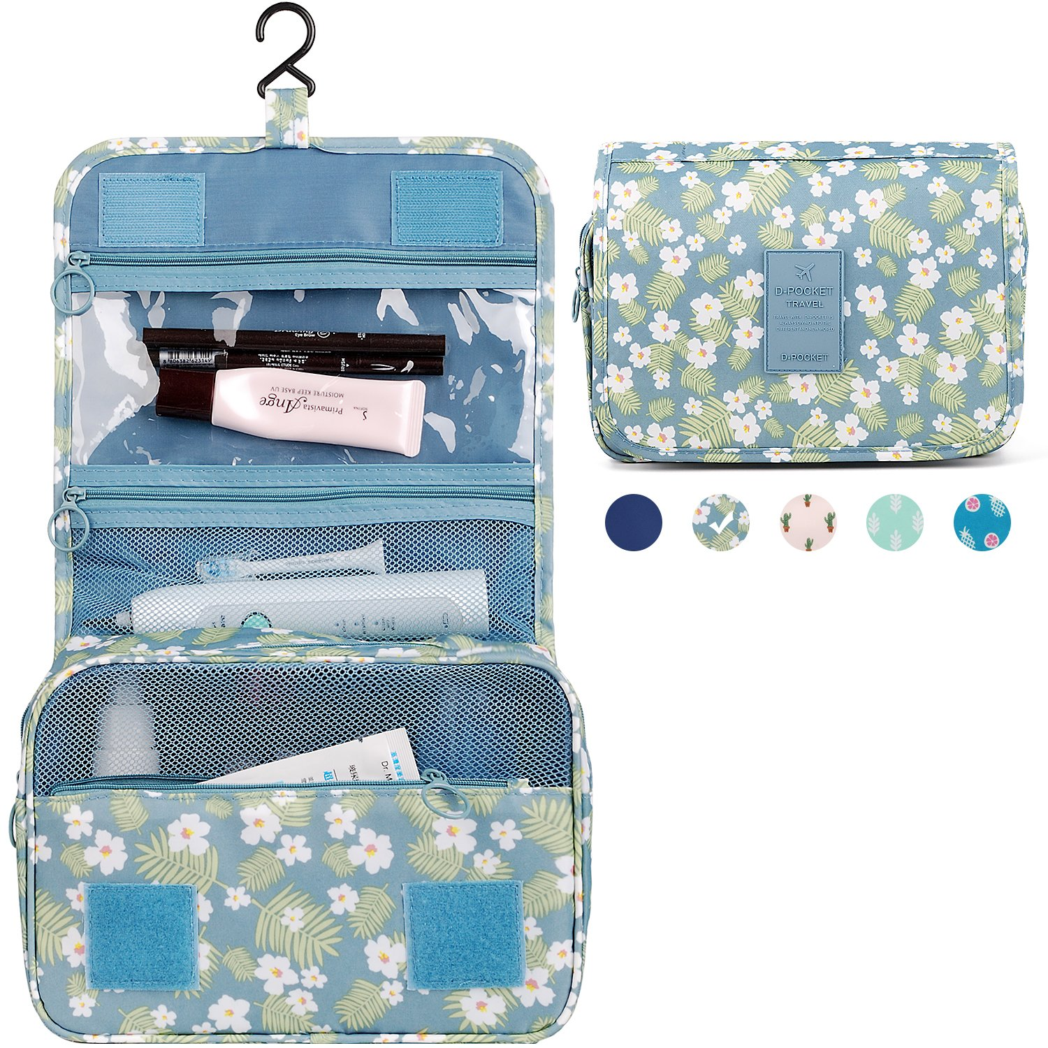 Waterproof Travel Hanging Toiletry Bag Cosmetic Make up Organizer for Women and Girls