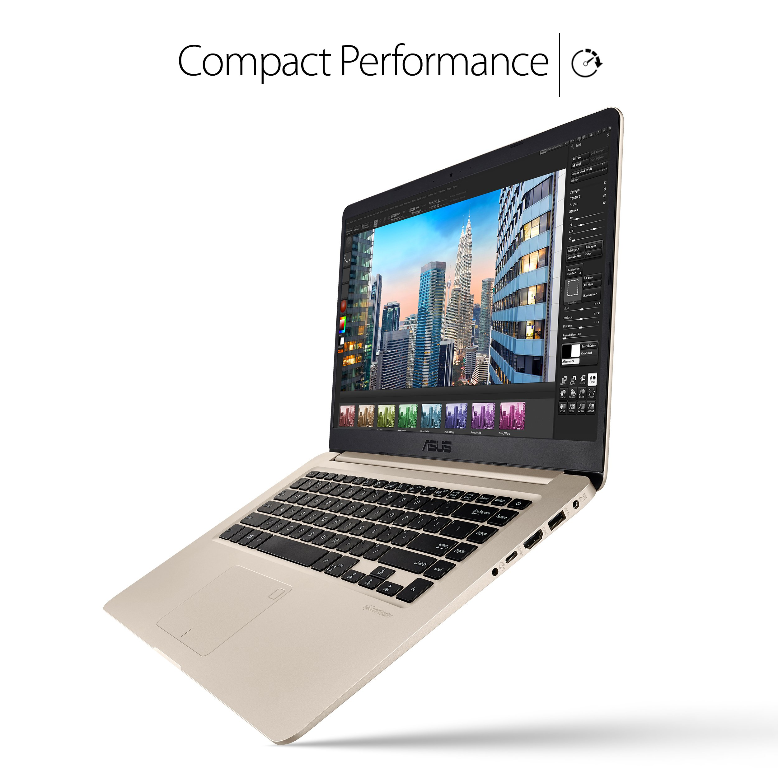 """ASUS VivoBook S Ultra Thin and Portable Laptop, Intel Core i7-8550U Processor, 8GB DDR4 RAM, 128GB SSD+1TB HDD, 15.6"""" FHD WideView Display, ASUS NanoEdge Bezel, S510UA-DS71 by ASUS (Image #2)"""