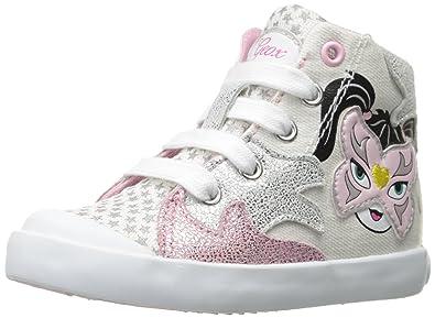 Geox B Kiwi Girl E, Chaussures Marche Bébé Fille, Blanc (White/LT