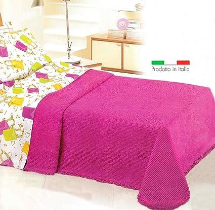 Copriletto Matrimoniale In Ciniglia.Casa Tessile Ciniglia Classico Copriletto Matrimoniale Cm