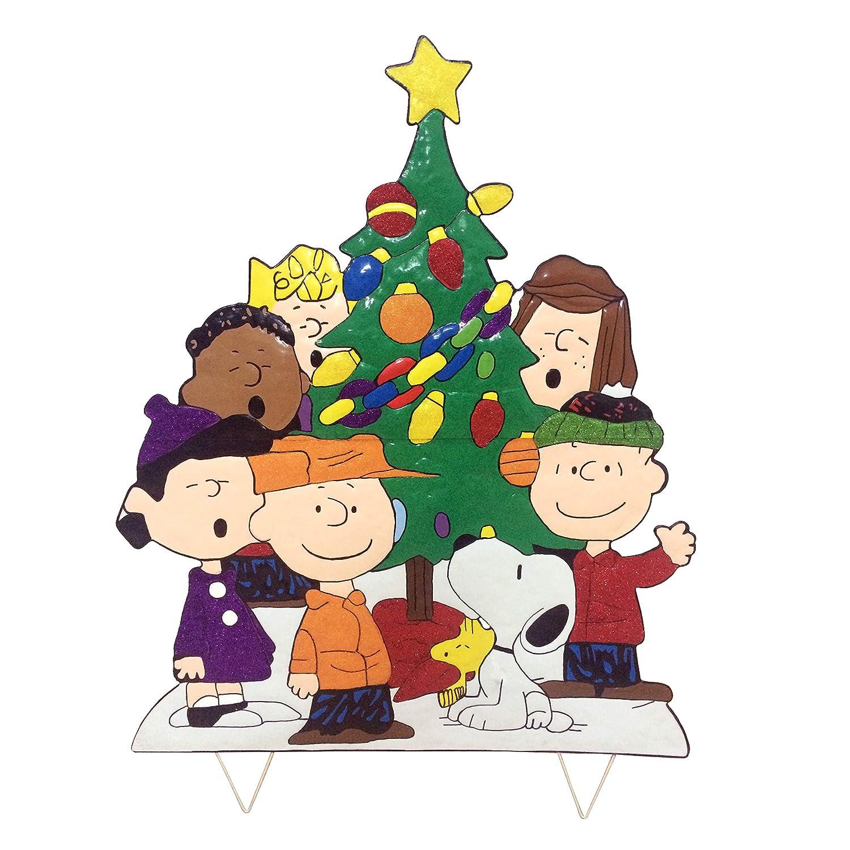Peanuts Christmas Tree.Peanuts Gang Around The Tree Christmas Decoration