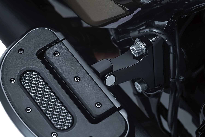 Set of 2 Satin Black Kuryakyn 8898 Motorcycle Foot Controls
