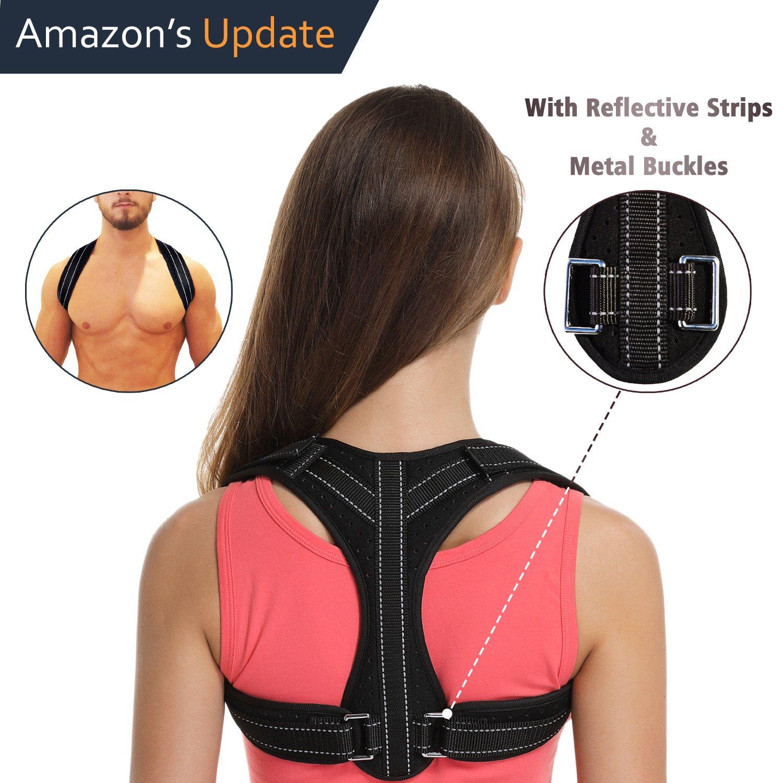 Posture Corrector for Women&Men Under Clothes,Posture Brace,Adjustable Back Brace with Reflective Strips,Back Posture Correct Brace,Clavicle Brace,Back Support for Shoulder&Neck&Upper Back Pain Relief