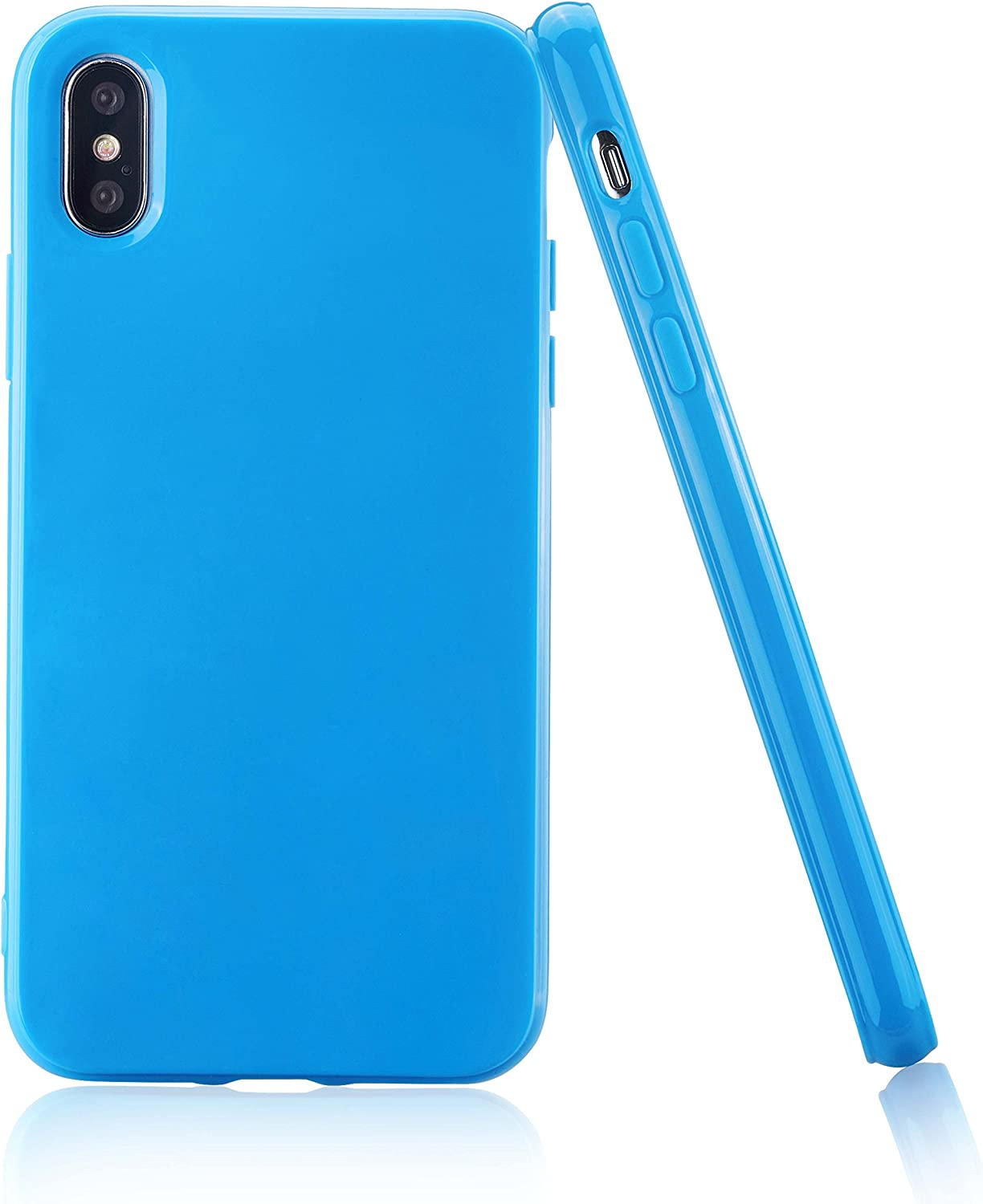 technext020 Shockproof Ultra Slim Fit Silicone iPhone 10R Cover TPU Soft Gel Rubber Cover Shock Resistance Protective Back Bumper for Apple iPhone XR Lavender for iPhone XR Lavender Case