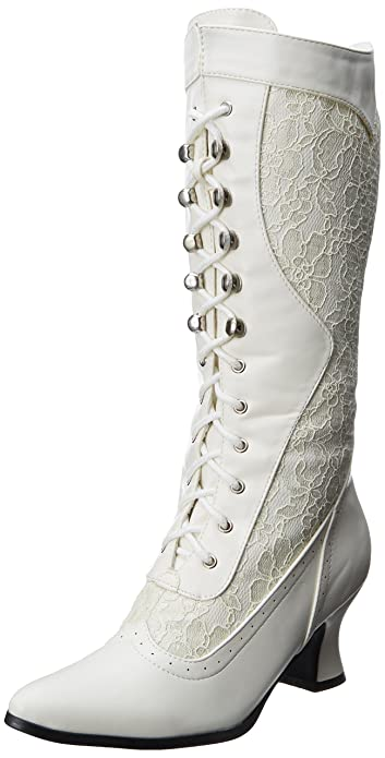 Vintage Inspired Wedding Dress | Vintage Style Wedding Dresses Rebecca Lace Heel Boot  AT vintagedancer.com