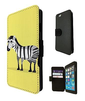 1162 - diversión linda cebra dibujo diseño amarillo iPhone 5 ...