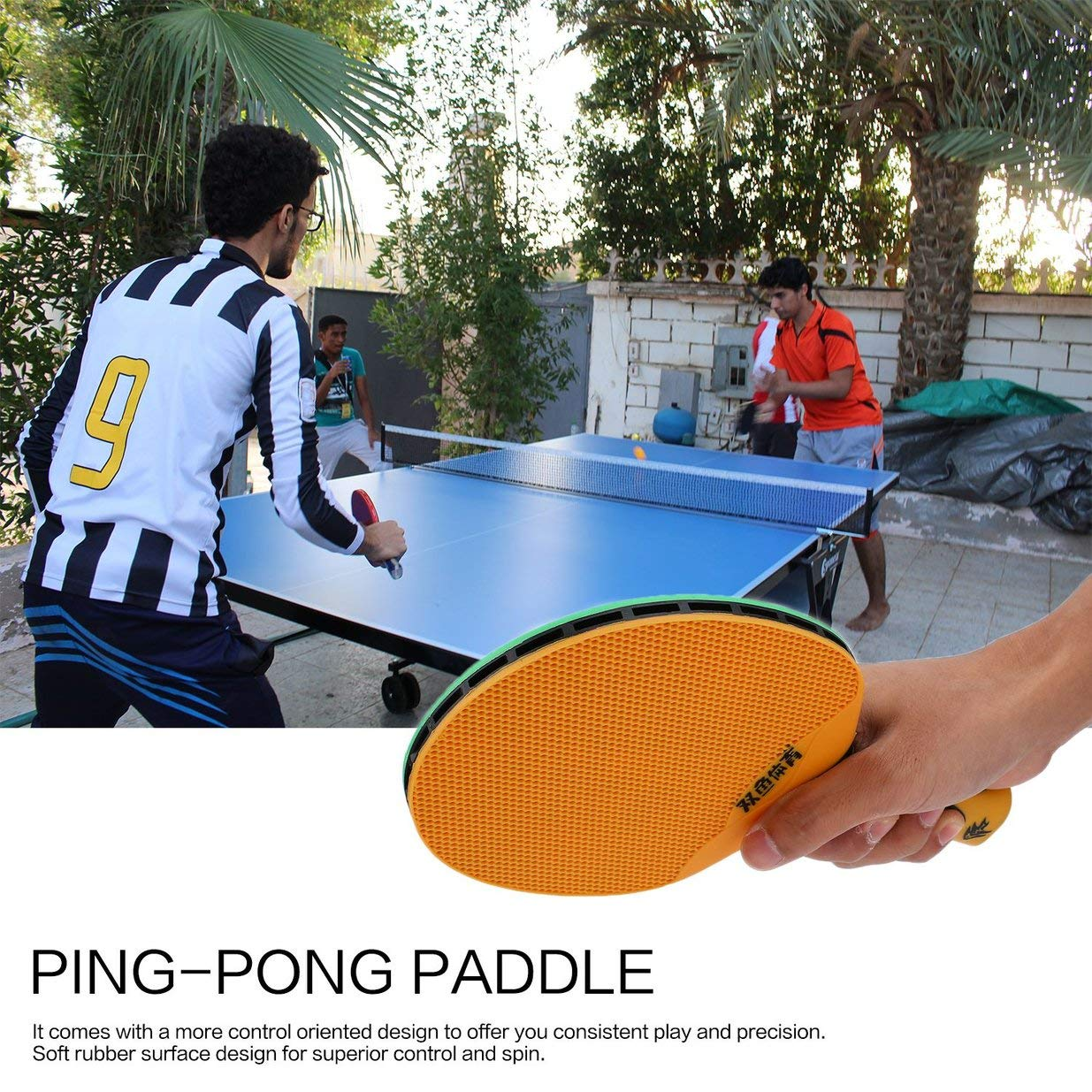 Amazon.com : Traumer Double Fish Outdoor Indoor Sports Waterproof Table Tennis Bat Portable Durable Rubber Plastic Ping-Pong Paddle : Sports & Outdoors