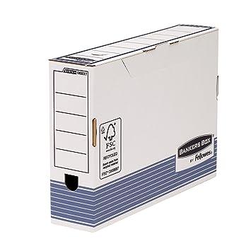 Bankers Box 0023701 - Pack de 10 cajas de archivo definitivo automático, folio, lomo