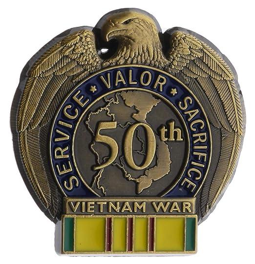 1d3b30982532c Amazon.com  50th Anniversary Vietnam War Hat or Lapel Pin HON13098  Clothing
