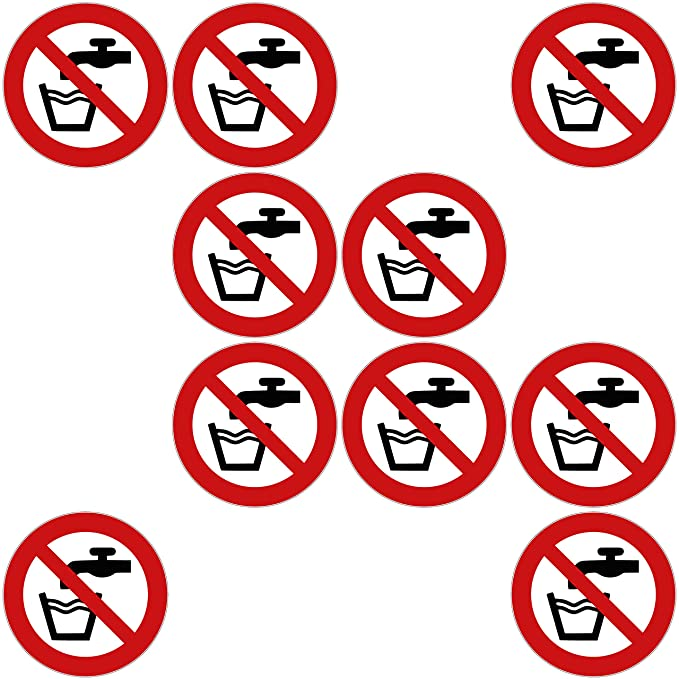 10 sin agua potable Pegatinas sin agua potable (10 unidades ...