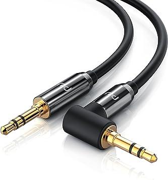 0,2m Audio Kabel Stereo Aux Klinken Kabel 90 Grad gewinkelt 3,5mm langlebig