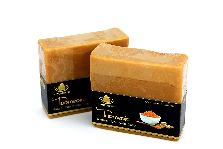 Lotus House Turmeric Natural Handmade Soap (300g) / 3 Bars SA1033