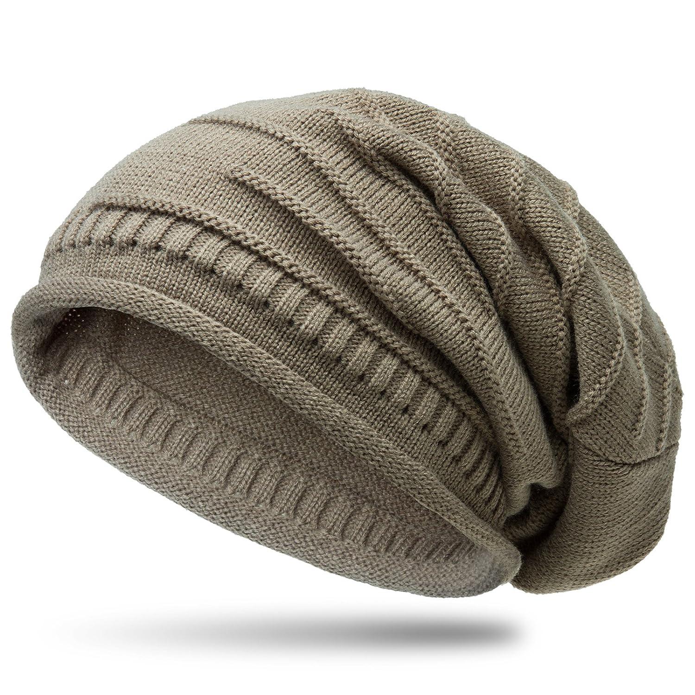 CASPAR MU079 Klassische Unisex Beanie Mütze Farbe:beige 4250799695086