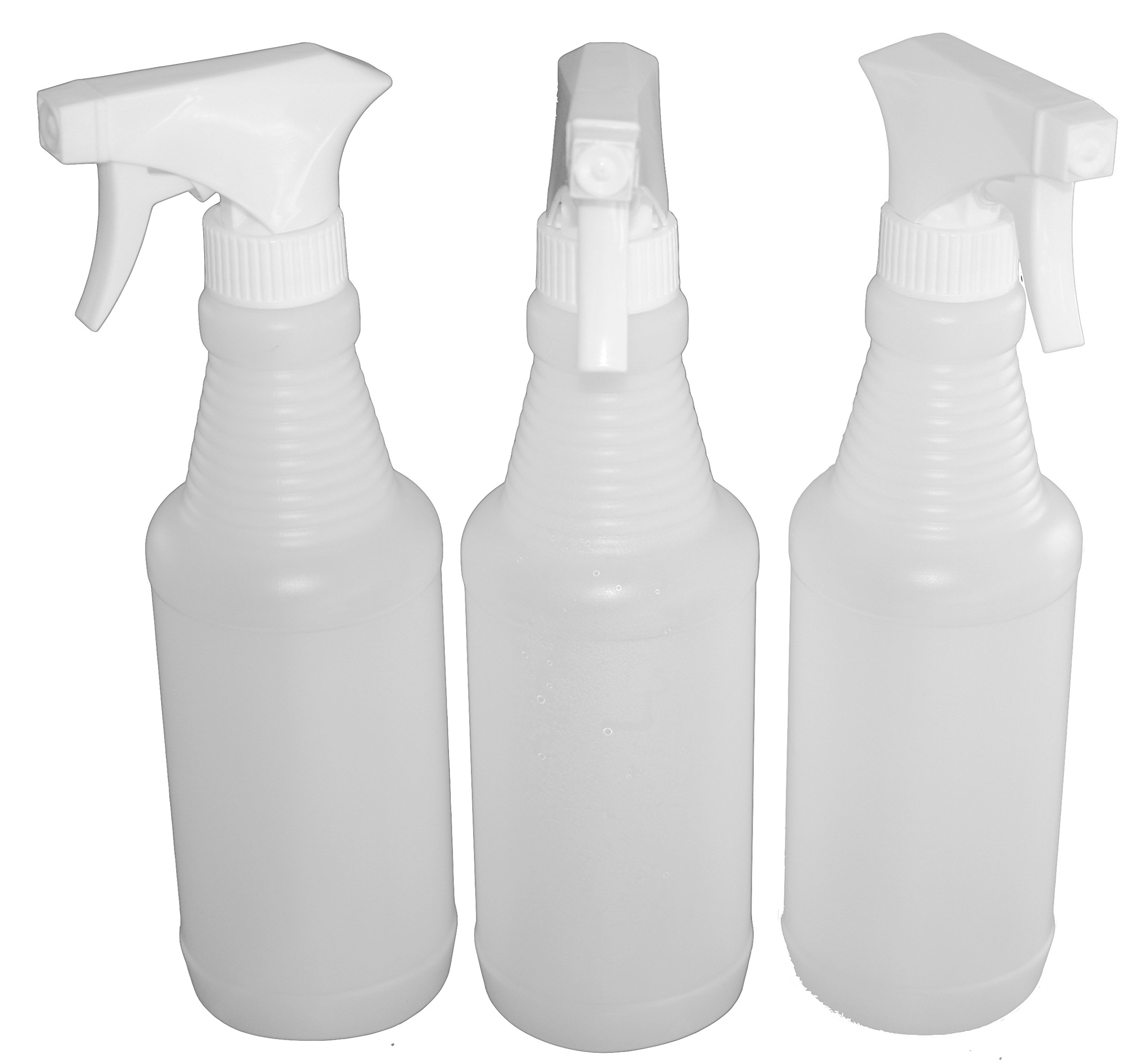 J&S Empty Spray Bottles - 16 Oz - (3 Pack) BPA Free with Mist or Stream and an Easy Squeeze Trigger – Professional Strength All Purpose Commercial or Home Use Sprayer Bottle