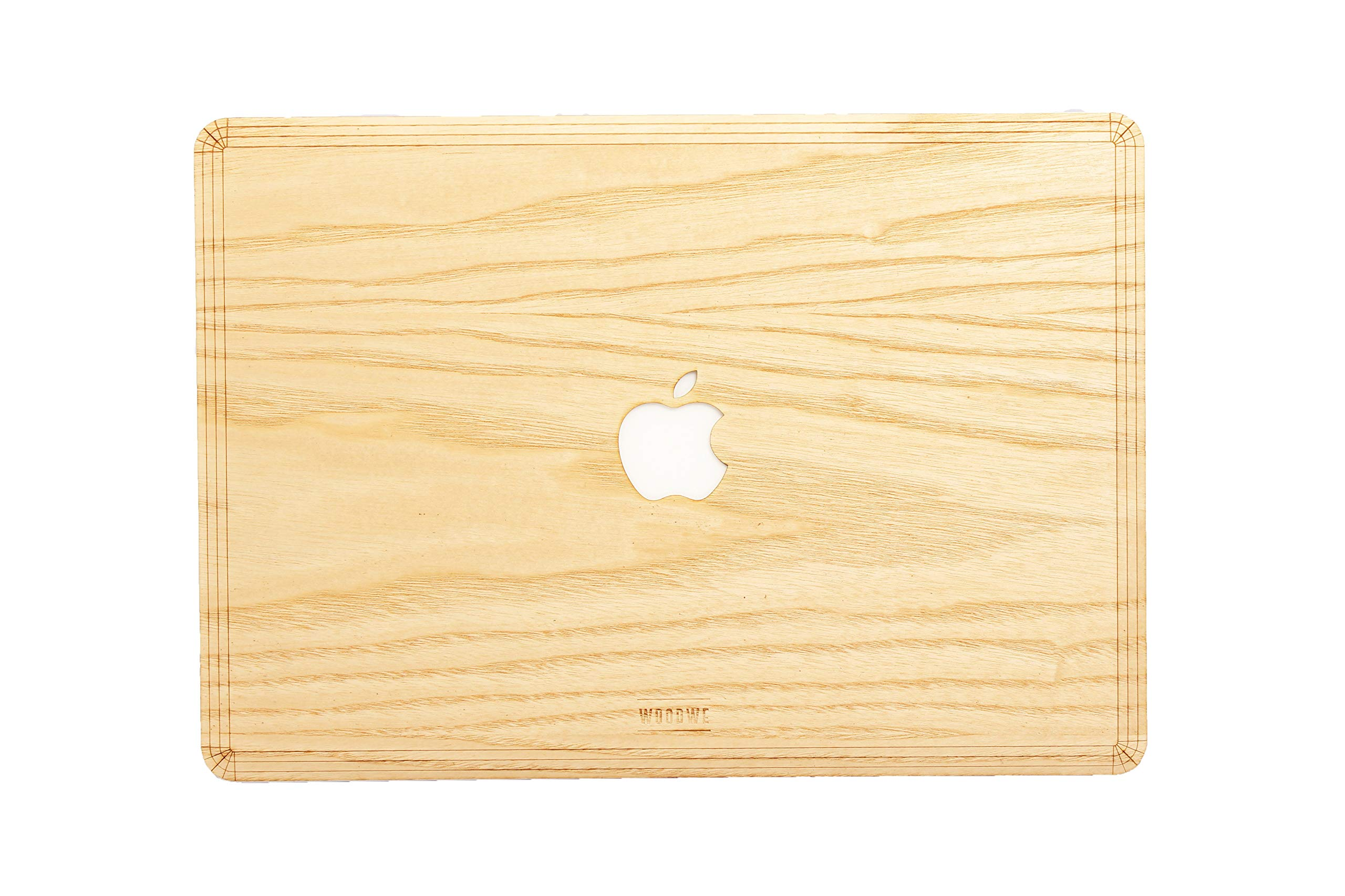 WOODWE Real Wood MacBook Skin Sticker Decal for Mac pro 15 inch Retina Display | Model: A1398; Mid 2012 – Mid 2015 | Genuine & Natural ASH Wood | TOP&Bottom Cover