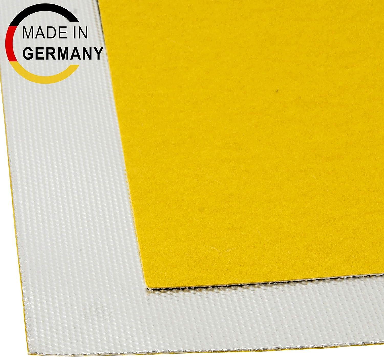 DL-Racing 50x100cm Alu-Fiberglas Hitzeschutzmatte selbstklebend Isoliermatte Hitzeschutzfolie 0,65mm