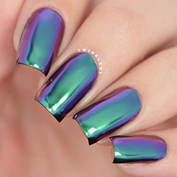 Amazon.com : Twinkled T Nail Powder for Duochrome Nails (Trapeze ...