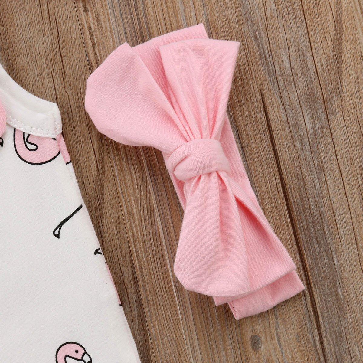 Infant Baby Girl Summer Rainbow Stripe One Piece Romper Bodysuit Clothes Set