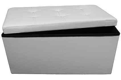 Panca Contenitore Ecopelle : Pouf puff panca swarovski contenitore sgabello scatola