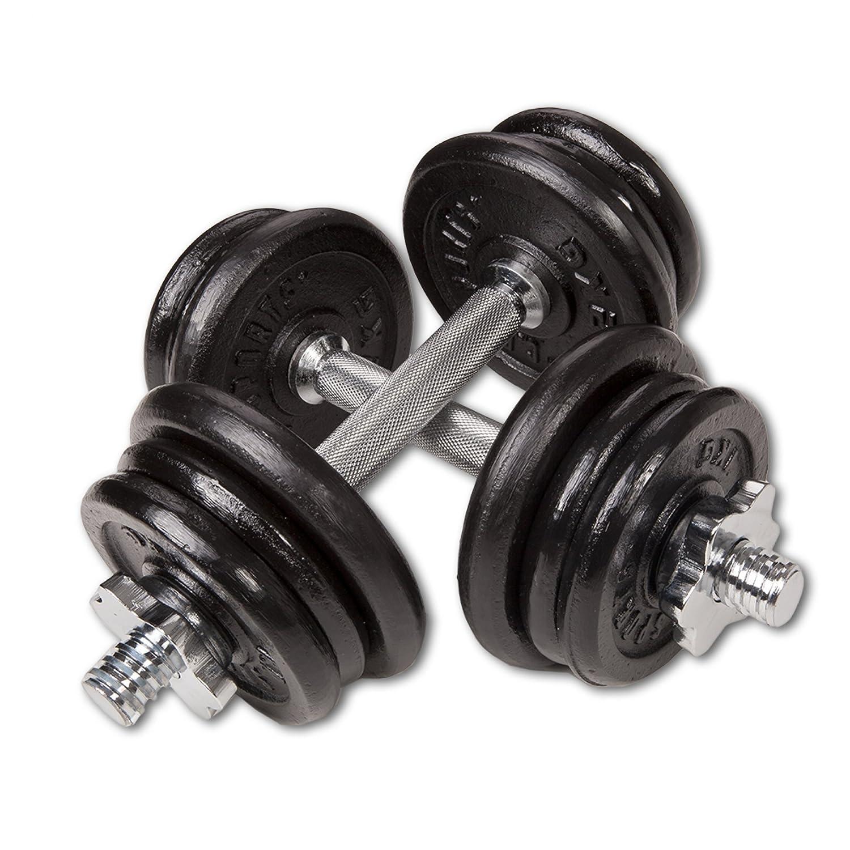 20 KG Kurzhantelset 20 kg Sports Juego de mancuernas de C.P con malet/ín 30 kg