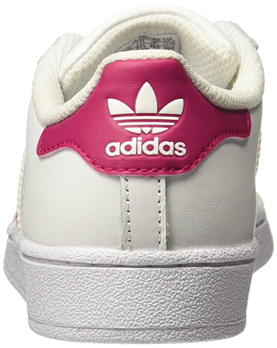 Amazon.com | adidas Originals Superstar C White/Bold Pink Leather 10.5 M US Little Kid | Shoes