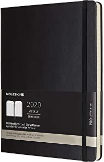Amazon.com : Moleskine Classic 12 Month 2020 Weekly Planner ...