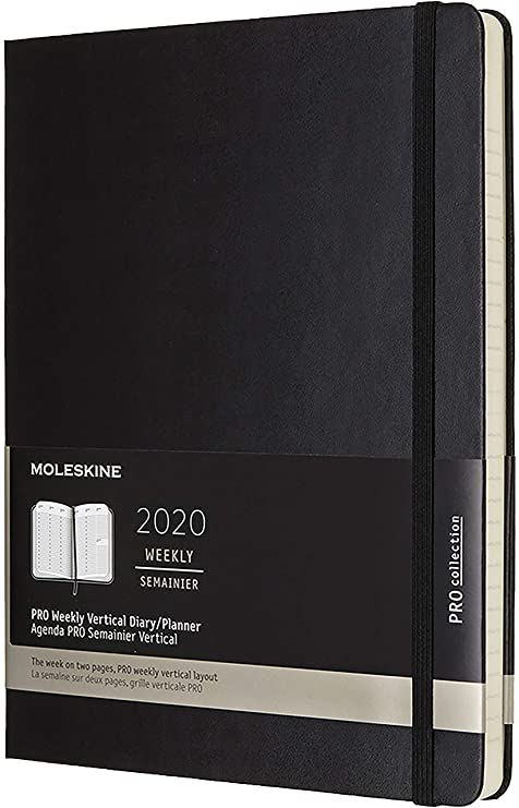 Amazon.com: Moleskine 2020 Professional Weekly Vertical ...