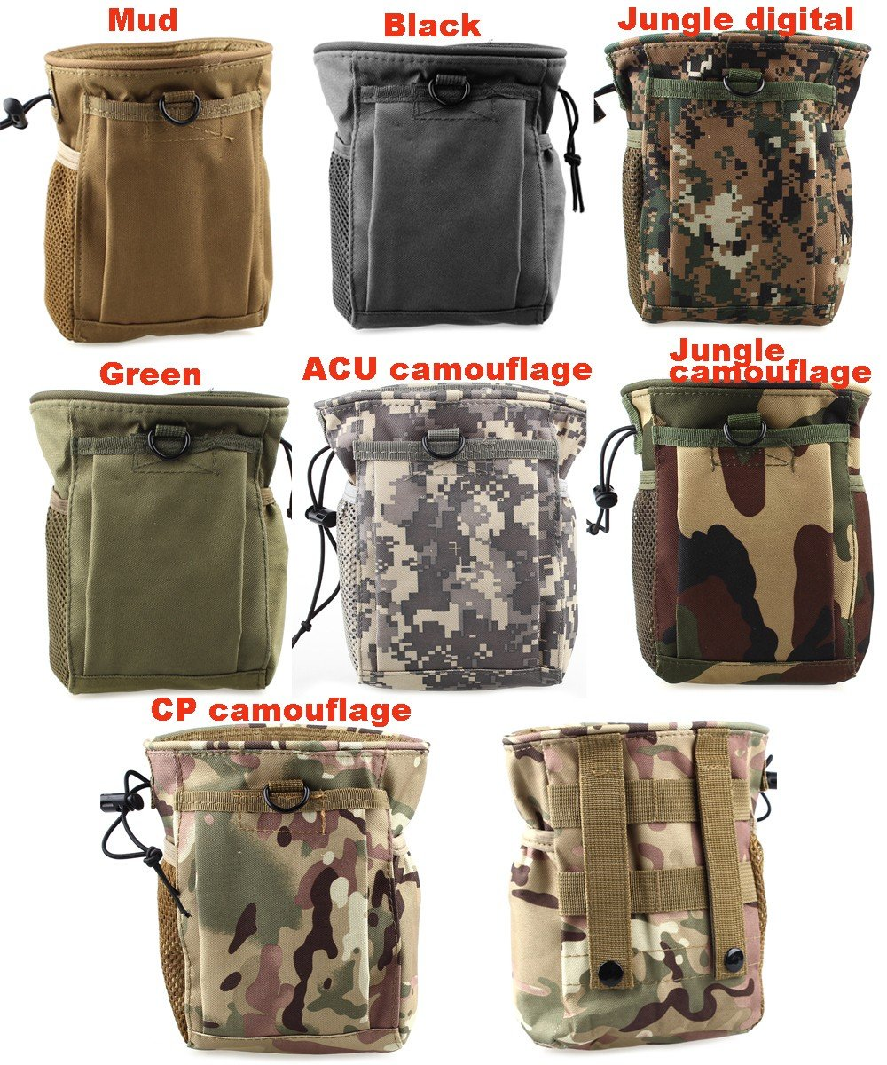Greenpromise Grande contenance Sac Molle Tactique Militaire Airsoft Paintball Chasse Pliante Mag Restauration Dump Pouch Camping d'escalade Sacs