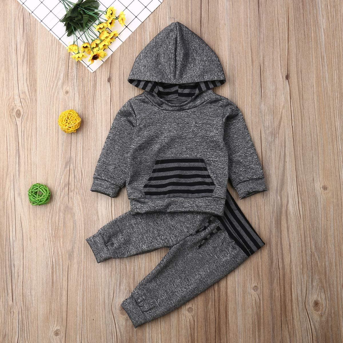 Toddler 2PCS Kids Baby Boys Sweatshirt Top+Pants Clothes Cute Jumper Outfits Set