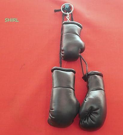 Mini guantes de boxeo negro PLUS guante de boxeo llavero ...