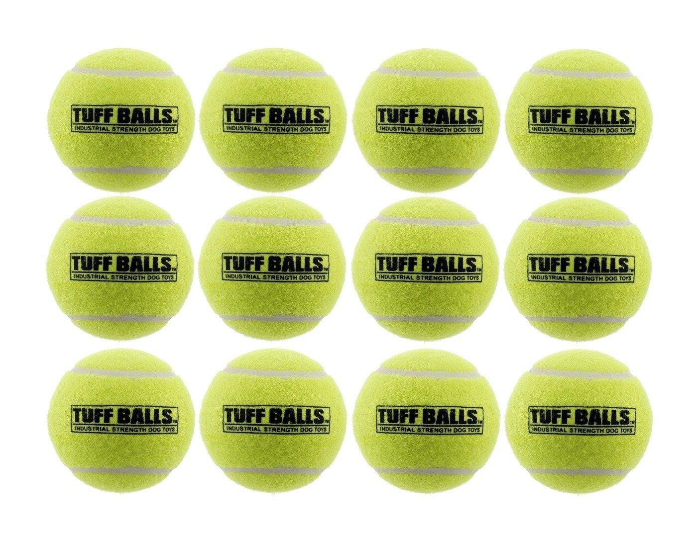 12 Tuff Balls - Industrial Strength Dog Toys 12 Pack, Standard, 2.5