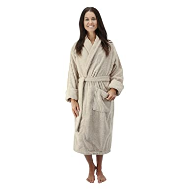 7738b2ea312bf Comfy Robes Women's 16 oz. Turkish Terry Bathrobe at Amazon Women's ...