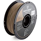 HATCHBOX 3D WOOD-1KG1.75 3D Printer Filament, Dimensional Accuracy +/- 0.05mm, 1.75 mm, 1 kg Spool, Wood
