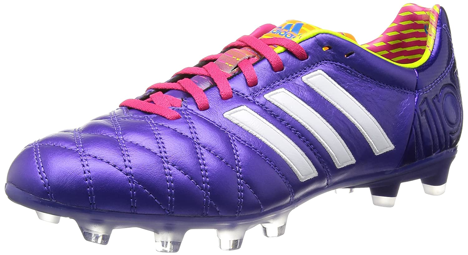 483869ecd79e Adipure 11 Pro TRX FG Football Boots Running Blast Purple Running  White Vivid Pink - size 11  Amazon.co.uk  Shoes   Bags