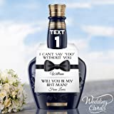Will You be My Best Man Bottle Tag Topper Wedding Card Usher Groomsman Foldable Thank You for Being My Whiskey Rum Vodka Gin Personalised Any Size Any Colour Any Text Any Name Any Title A4 A5 A6 A7