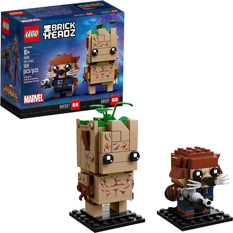 BrickHeadz Mini Figure Groot /& Rocket Fits Lego Super Hero Building Blocks