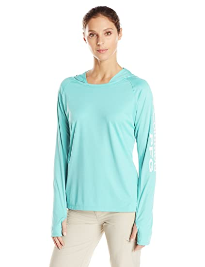Columbia Womens Super Tidal Tee Long Sleeve Shirt Mountain Coral Print X-Small