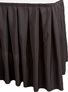 Accordion Pleat Polyester Table Skirt Black