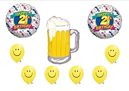 Amazon BEER 21st BIRTHDAY PARTY Balloons Decorations Supplies