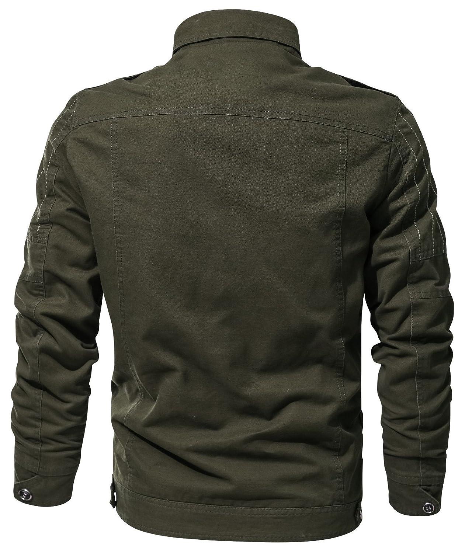 DHYZZ Herren Hochwertige Hochwertige Hochwertige Modische Baumwolle Militär Jacke Windproof Mantel Übergröße 12 Styles - Alles, was Sie Hier wollen B07PMQB2J7 Jacken Zuverlässige Qualität e7a380