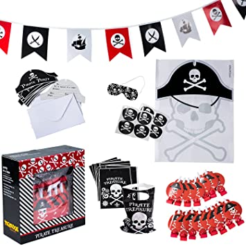 Amazon Com Pirate Party Supplies For Kids Birthday Set For 16
