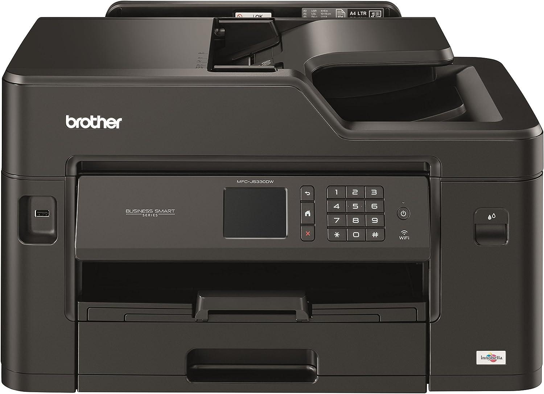 Brother MFCJ5330DW - Impresora multifunción de tinta profesional, conexión WiFi, con tecnología de inyección de tinta, Negro